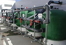 Installation of water filtration equipment for commercial pool plant rooms